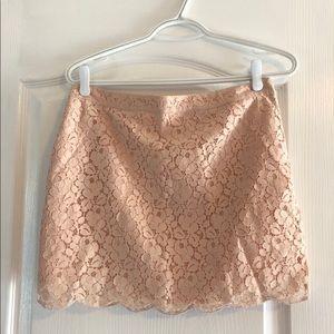 Aritzia Pink Lace Mini Skirt